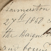 Handwriting from 1850
