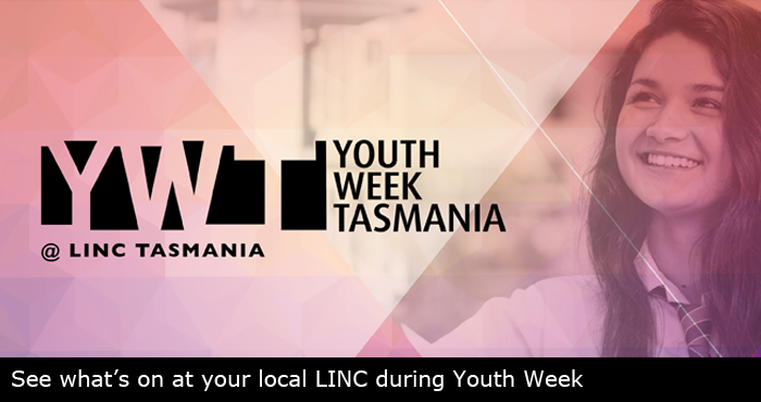 Young woman and Youth Week logo