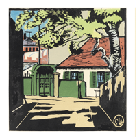 The House with Green Shutters Print