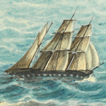 Image - Calcutta on her voyage to Hobart, 1840
