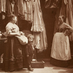 Image - women in London with clothes for sale