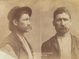 Photographic record and description of prisoner Samuel Symes