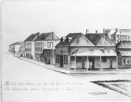 The old Hope Tavern, Hope and Anchor, Alexander, Corner Macquarie and Dunn Streets
